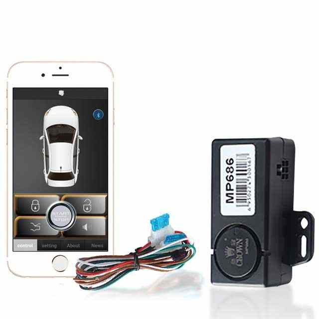 APP Smartphone Keyless Entry Sheriff Car Alarm System For Android Central Locking Remote Smart Key Automatic Trunk Opening