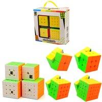 Beste 2018 Nieuwe Jaar Geschenken Speelgoed voor Kinderen Jongens 4 Stks/set Puzzel Magic Cube 3x3x3 4x4x4 2x2x2 Professionele 2*2 3*3 4*4 MF2S Cubes
