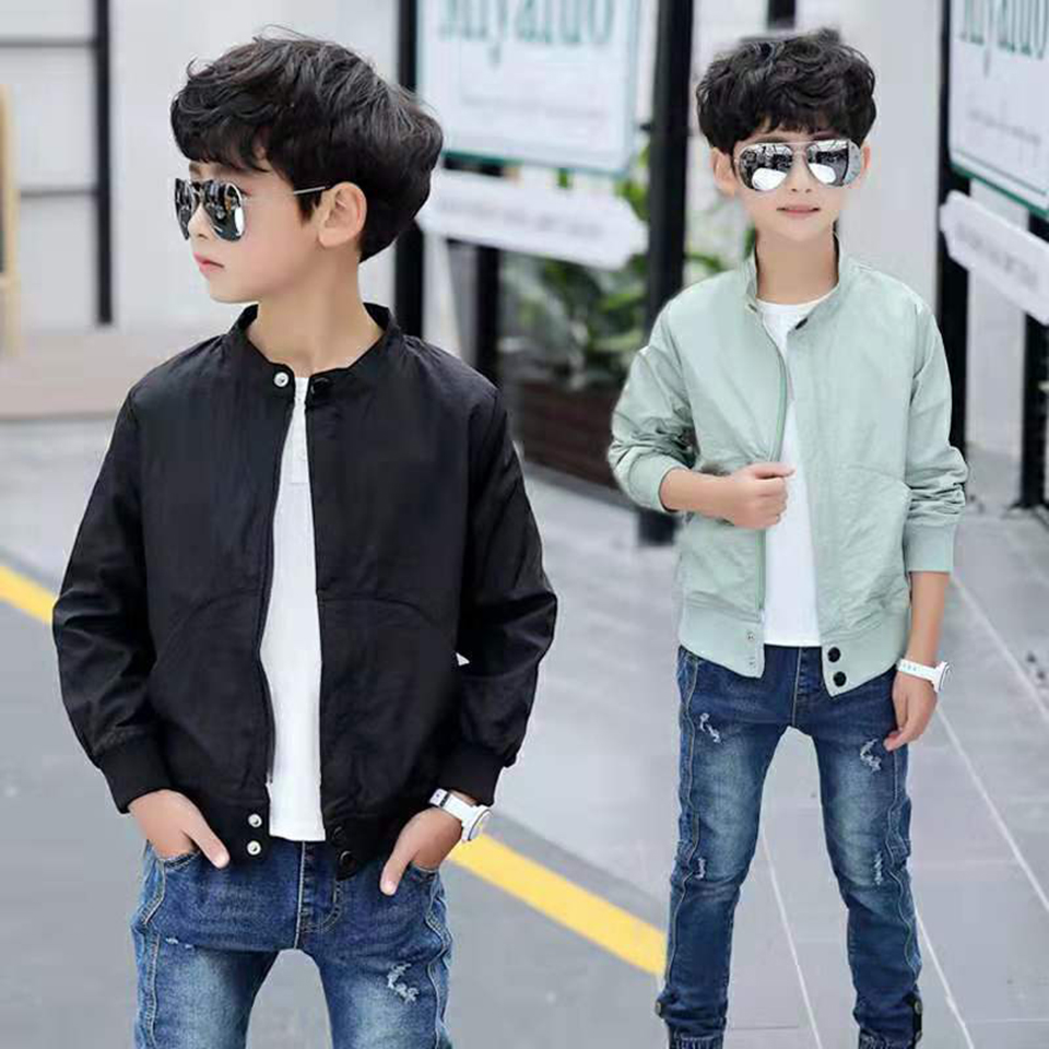 Children Jacket Coats 2019 New Autumn Kids Fashion Boys Outerwear Baby Boy Solid Color Coat For 4 5 6 7 8 9 10 11 12 13 Yrs
