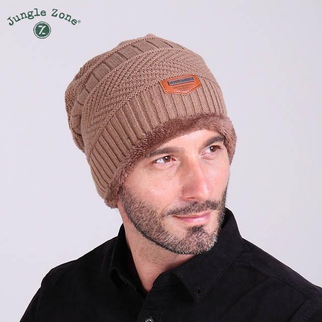 ea92e9e89 US $21.5 |2017 Fashion Bonnet winter Caps For Men Women Thick Winter Beanie  Men Knitted Hat Warm Skullies & Beanies With Velvet m1505-in Skullies & ...