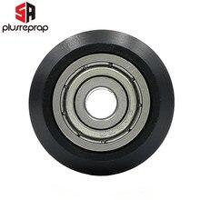 10 pces v-slot plástico roda pom com rolamentos w tipo passivo roda redonda engrenagem de polia mais lenta para cnc openbuilds impressora 3d parte