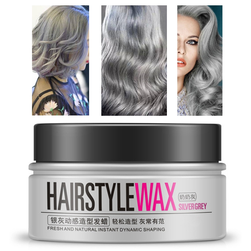 Creative Mud Ash Easy Styling Dynamic Convenient Hair Dye Men Modeling Temporary Silver Women Color Gel Wax Gray Dynamic