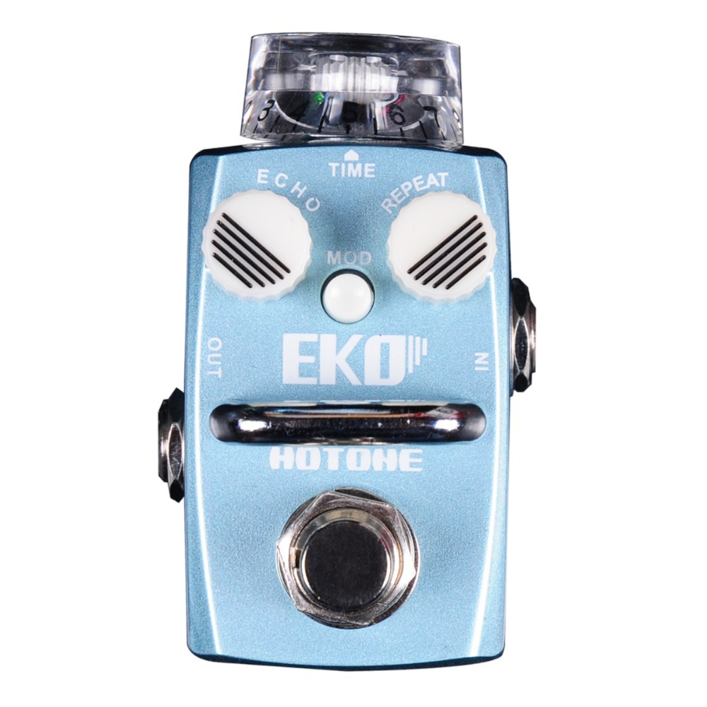 Hotone EKO / Digital Delay Echo Effect Pedal True Bypass Electric Guitar Bass / Smallest but Smartest Top Grade Fancier Choice hotone grass classic tube overdrive effect pedal electric guitar bass true bypass top grade fancier choice