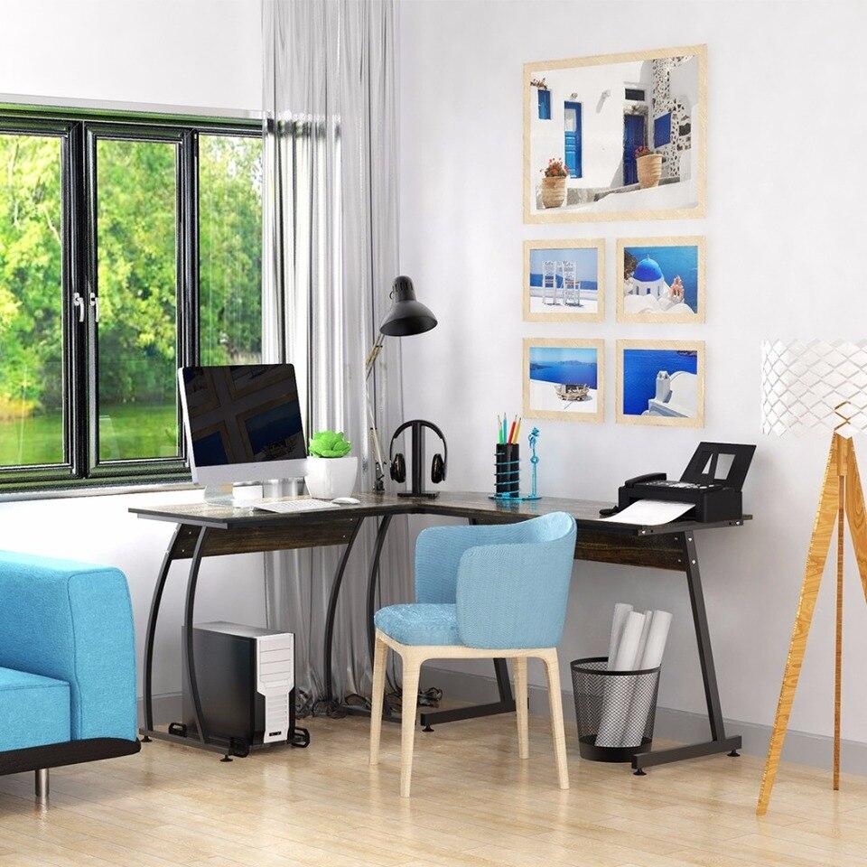 Dewel L Shaped Corner Computer Desk 59