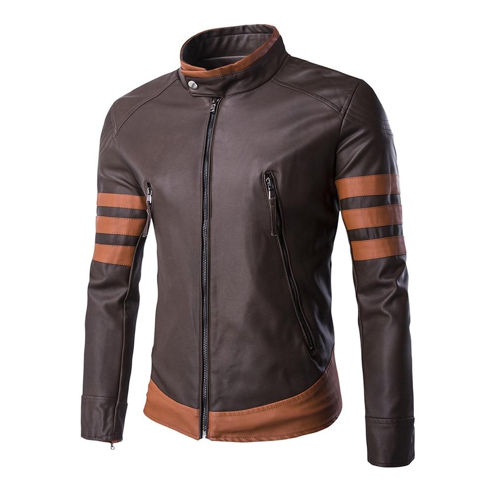 Herobiker Motorcycle Jackets Men Vintage Retro PU Leather Jacket Punk Windproof Biker Slim Classical Faux Leather Moto Jacket faux leather zip detail belted biker jacket