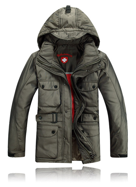 Swiss 100 Authentic Man Winter Coated Fabric Army Down