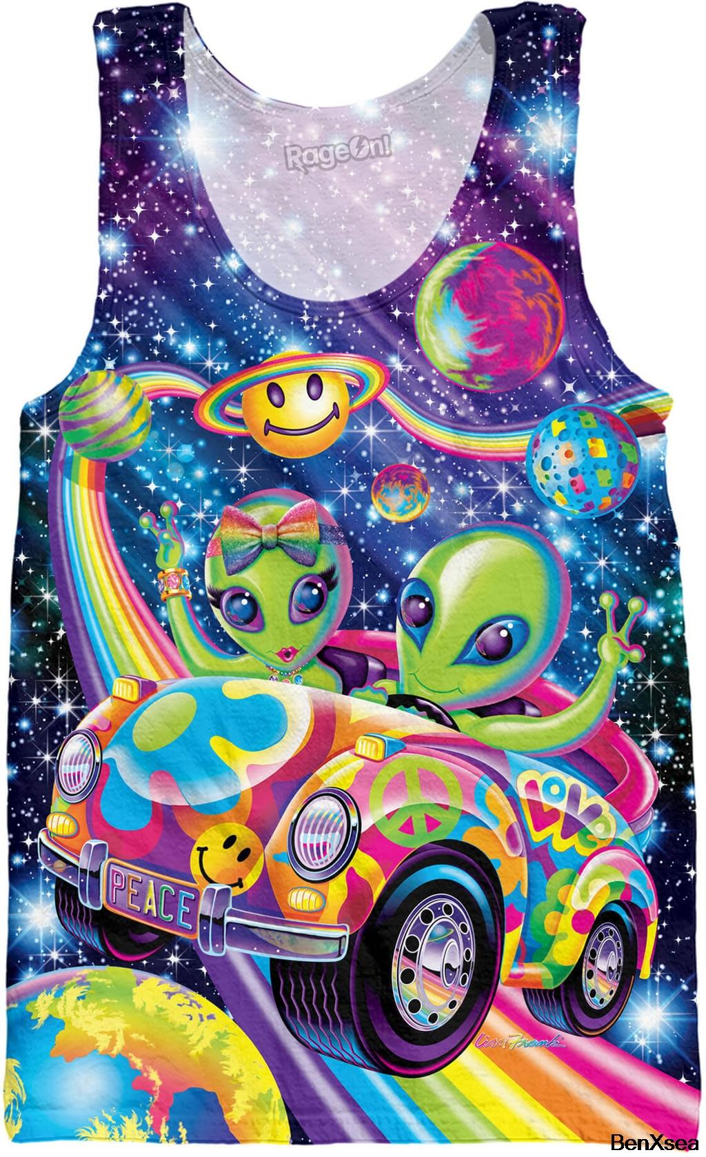 Lisa Frank Aliens/Skye/Hunter/ Forrest   Tank     Top   3d Printed Vest Men Unisex Undershirt Jersey Tees Shirt Plus Size