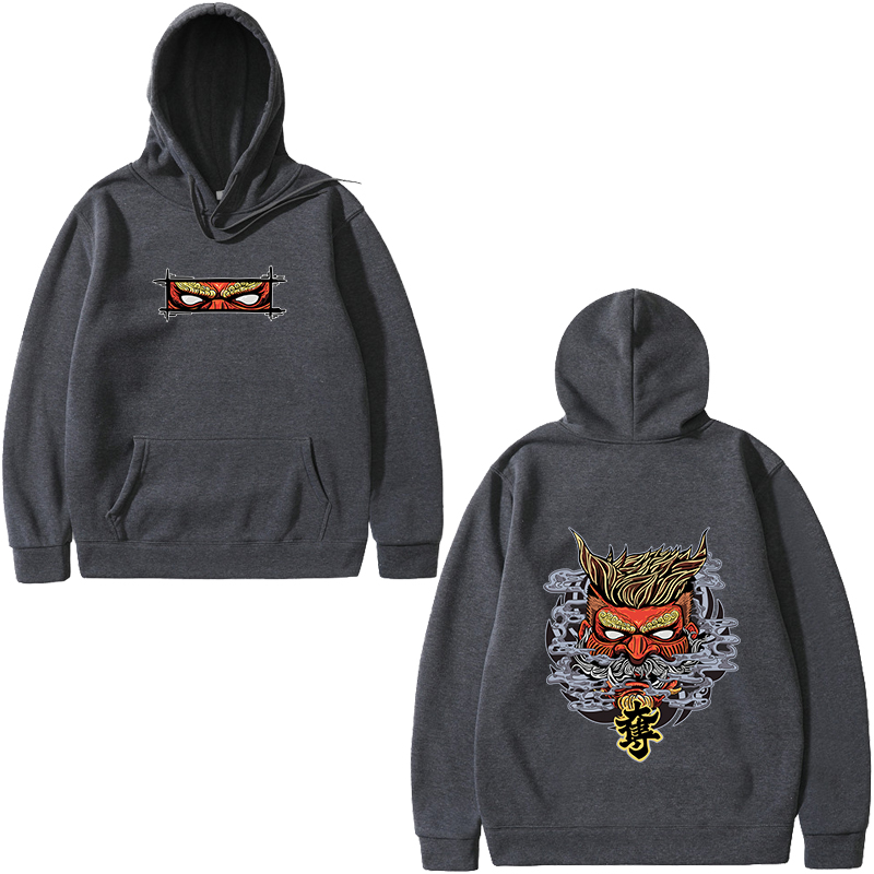 2019 Japan Harajuku Devil Print Men's Hoodie Spring Autumn Mens Hip Hop Style Hoodie Erkek Sweatshirt Male 3XL Free Shipping