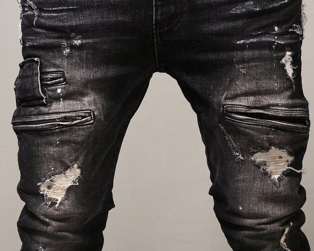Aliexpress.com : Buy Street Jeans Men Slim Fit Hiphop Jeans Mens ...