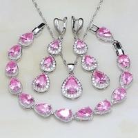 Cute-Water-Drop-Pink-Cubic-Zirconia-White-CZ-925-Sterling-Silver-Jewelry-Sets-For-Women-Earrings.jpg_200x200