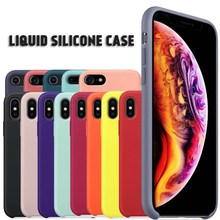 original 360 Protective Tpu Case for iphone 6 7 8plus Liquid Silicone Hand Feeling TPU Cover Case for iphone X XS XR XS MAX hat prince protective tpu case cover w stand for iphone 6 4 7 white