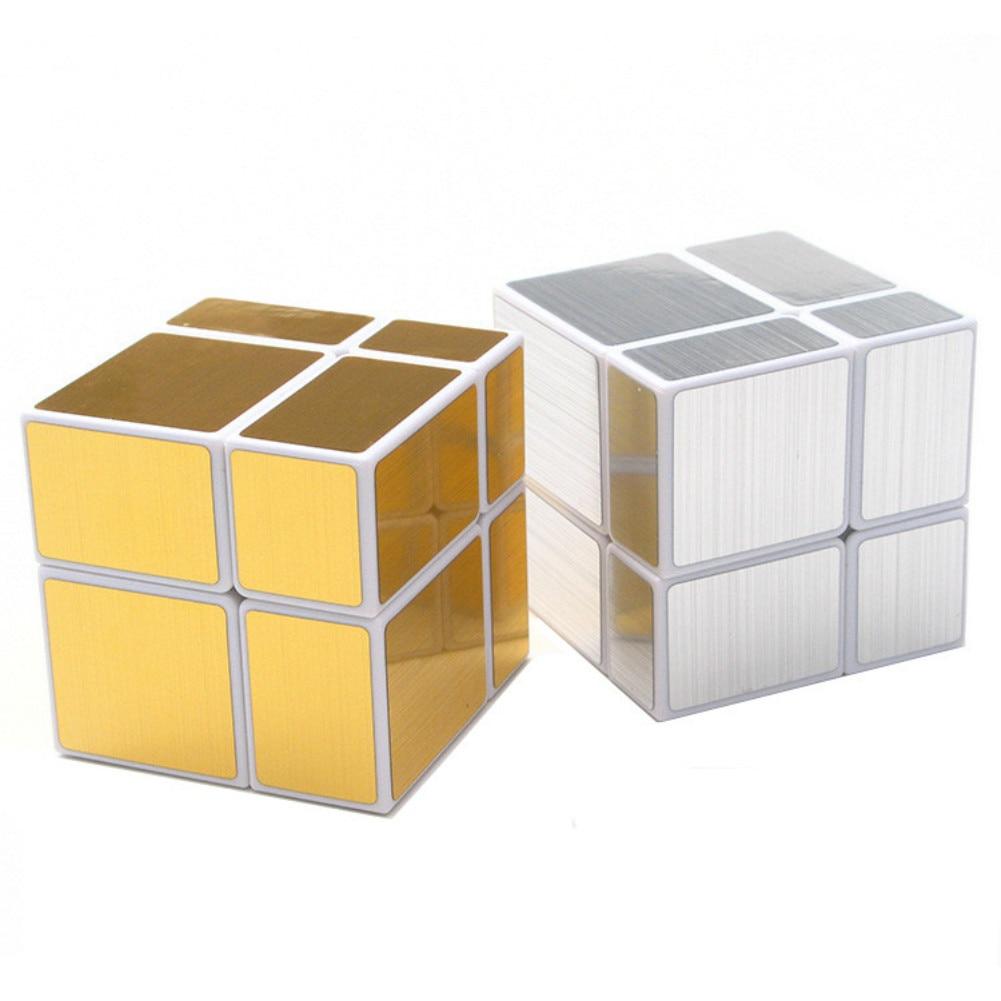 Shengshou 2x2x2 Magic Mirror Cube Blocks 5.7cm Speed Magic Puzzle Cube 2x2 Cubo Magico Sticker Learning Education Toy