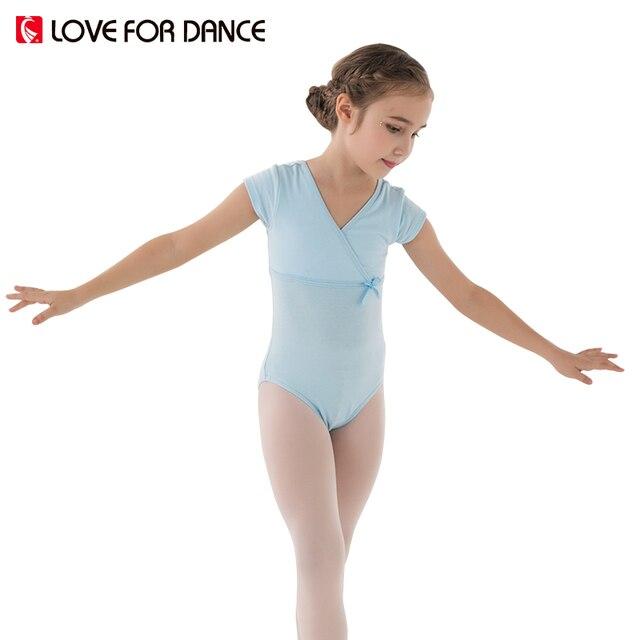 24a6dd39b LOVE FOR DANCE Child Kids Ballet Dance Leotard Lycra Short Sleeve ...