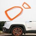 2 Unids/set Coche Llanta de la Rueda de Ajuste de La Decoración Marco de Estilo Para 2015-2016 Jeep Renegade 1.4 Edición Inteligente Coche-cubre ABS 4 colores