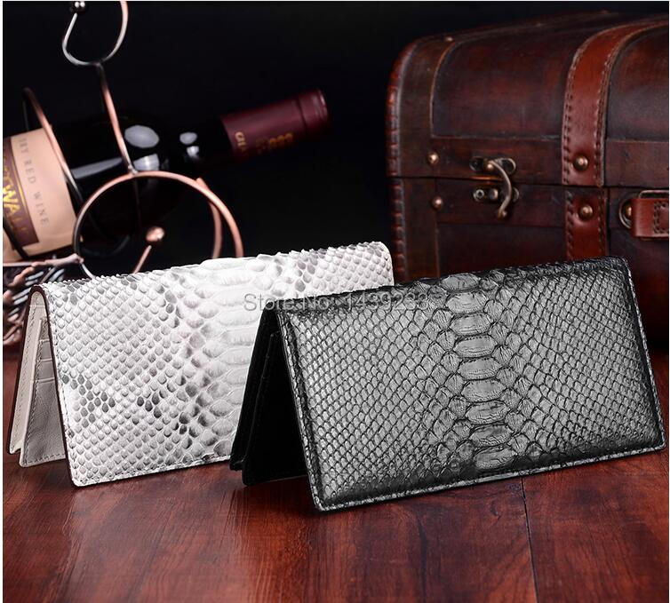 100% Genuine/Real python skin leather long size wallets and purse for men bank card holder beige and black color cash holder non woven fabrics hanging type 18 cd dvd card holder beige
