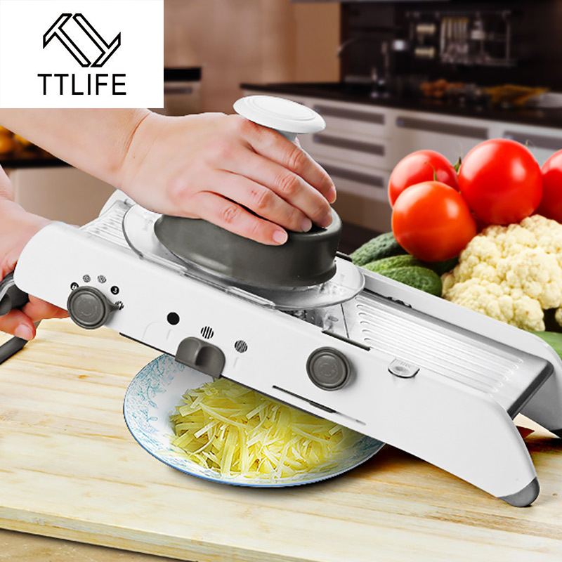 nice Mandolin Kitchen Appliance #8: TTLIFE Adjustable Mandoline Slicer Professional Grater with 304 Stainless  Steel Blades Vegetable Cutter Kitchen Tools(