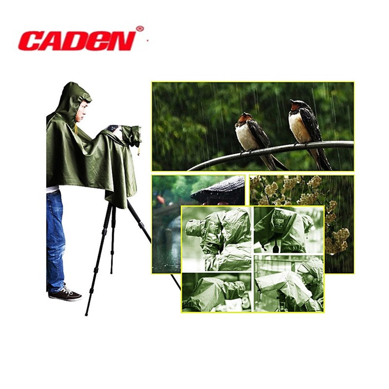 CADeN Camera Rain Cover Coat Dust Rainproof Waterproof Protector Outdoor Rainwear for Canon EOS Nikon Sony Fuji DSLR SLR