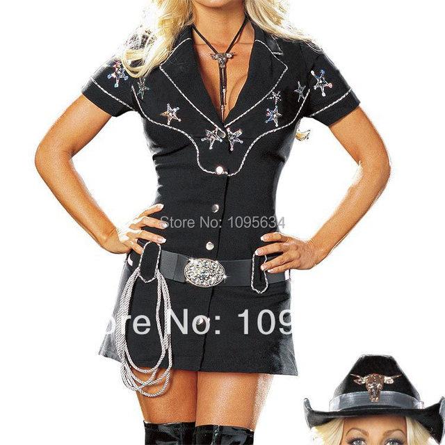 0e81248c89df6 US $22.04 10% OFF Free Shipping Ladies Sexy Gunslingin Cowgirl Wild West  Sheriff Party Fancy Dress Costume S M L XL 2XL on Aliexpress.com   Alibaba  ...