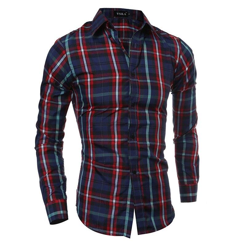VITryst-Men Stretchy Casual Spring//Fall Slim Floral Printed Work Shirt