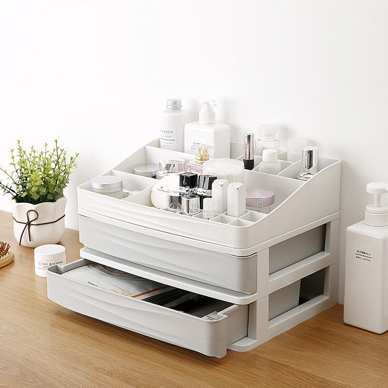 Image 4 - Plastic Cosmetic Drawer Makeup Organizer Makeup Storage Box Container Nail Casket Holder Desktop Sundry Storage Case-in Storage Boxes & Bins from Home & Garden
