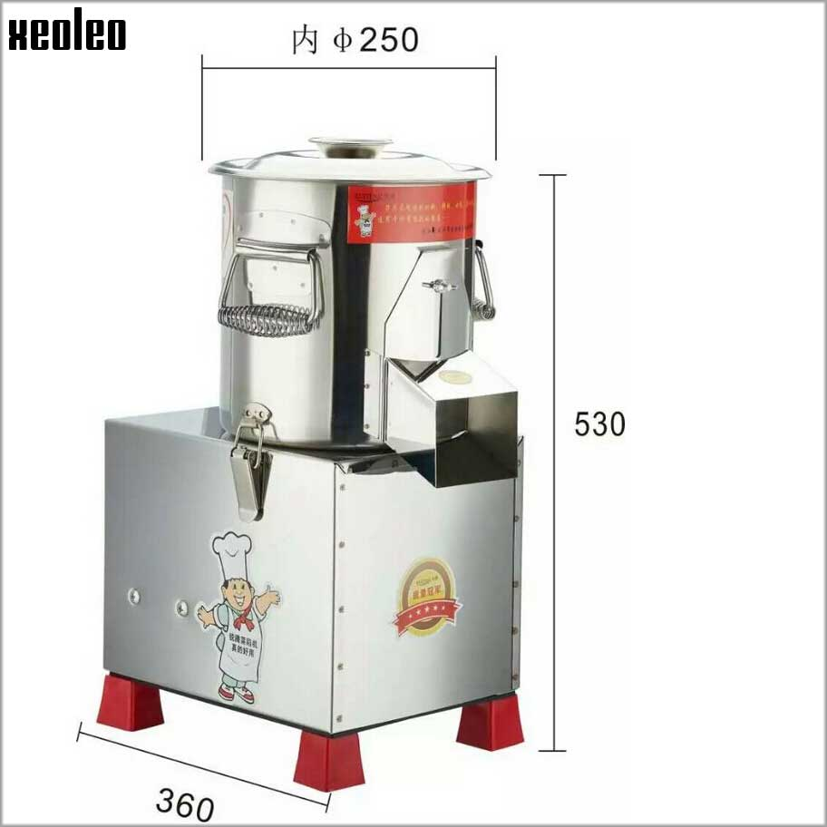 Xeoleo 100kg/h  Vegetable Chopped machine Shredding Machine Stainless steel Meat foam machine Suitable for meat/Dry pepper