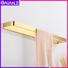 Towel Bar Gold Brass Towel Holder Single Wall Mounted Toilet Bathroom Towel Rack Hanging Holder Decorative Bathroom Accessories free shipping becola single towel bar gold plated towel rack solid brass towel holder bathroom accessories br 5509