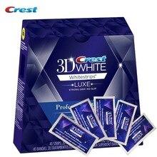 Original1box / 40 полосы 20 Pouches крест 3D белый люкс профессиональные эффекты Crest Whitestrips гигиены полости рта отбеливание зубов