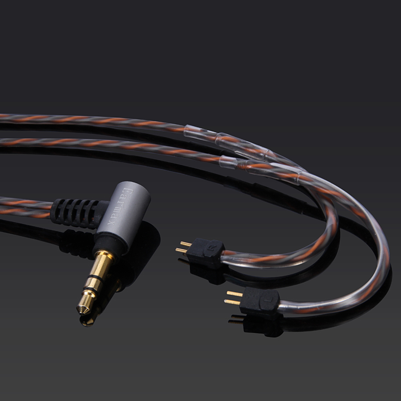0 78mm 2pin CIEM connector Upgrade replace BALANCED silver plate OCC Audio Cable Universal 3 5mm