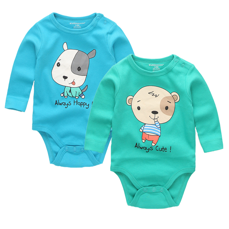 2pcs/lot Baby Romper High Quality Character 100% Cotton O Neck Full Sleeve Newborn Baby Clothes Baby Costume Boys 1