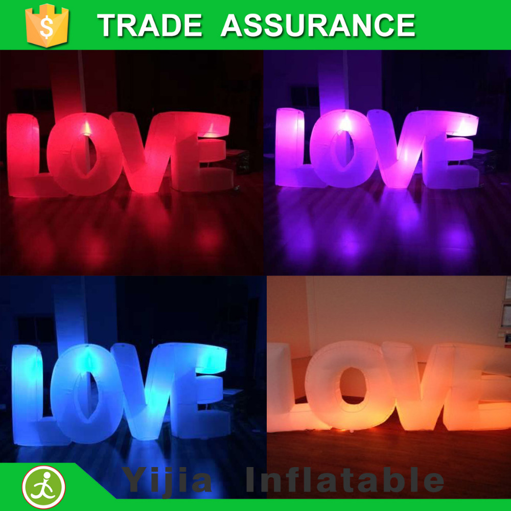 popular party wedding suppliers inflatable letters with led lightchina mainland