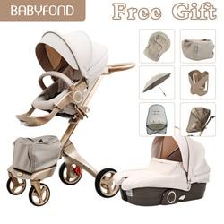75cm alta paisagem 2in1 carrinho de bebê portátil carrinhos de bebê dobrável carrinhos para recém-nascidos viagem luxo champanhe ouro carrinhos