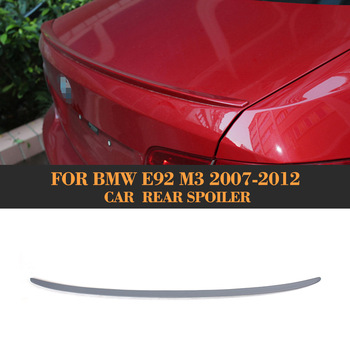 Rear trunk Boot Spoiler Wing Grey priming PU for BMW E92 3 series 2007 2008 2009 2010 2011 2012 image