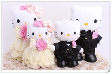 a pair of small cute wedding kitty toys lovely beautiful lovers kitty dolls gift about 22cm