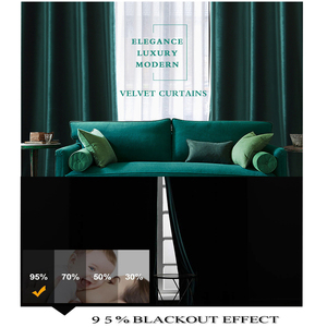 Image 4 - Luxus Samt Blackout Vorhänge für Wohnzimmer Hohe Shading Solide Vorhang für Das Schlafzimmer Jalousien Vorhänge Fenster Tür Blau Gelb
