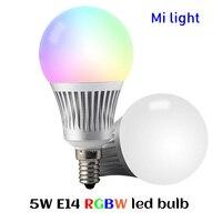 BSOD LED Bulb Lamp 5W Milight FUT013 RGB CCT E14 Light Lamp 2 4GHZ Wireless Color