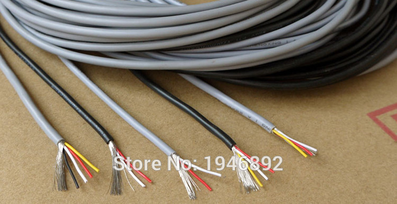 HTB16C NPVXXXXc3aXXXq6xXFXXXU - 5 Meters High Quality UL 2547 28/26/24 AWG Multi-core control cable copper wire shielded audio cable headphone cable signal line