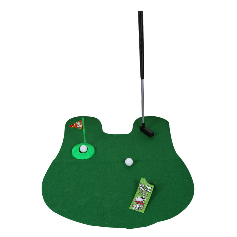 Toilet Mini Golf Game Set Potty Putter Toilet Golf Putting Funny Novelty Game Golf Training Euipment Accessories indoor Golf Toy novel mini golf cart pen set blue