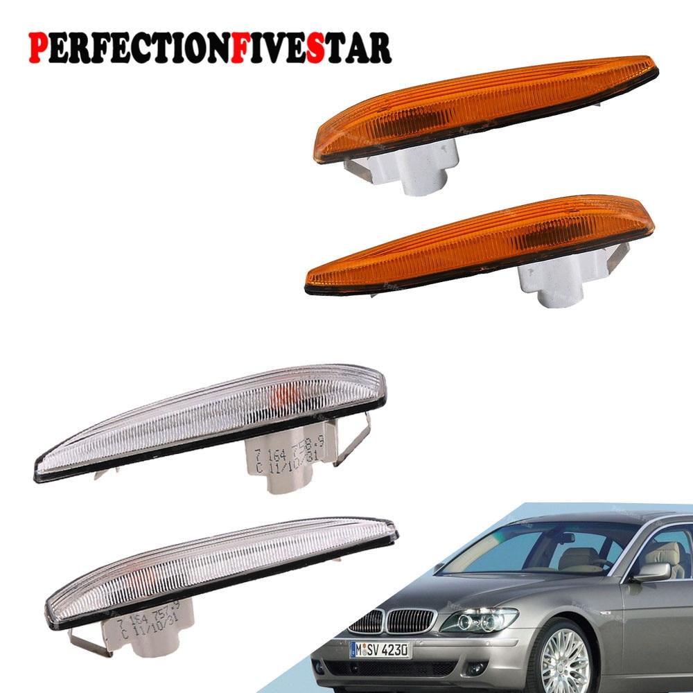 63137164755 63137164756 Left Right Side Marker Corner Lamp Parking Light Cornerlight For BMW E65 E66 745i 760i 2002-2005 Yellow metal parking brake gear actuator repair kit for bmw e65 e66 745i 750i 760i li 40teeth