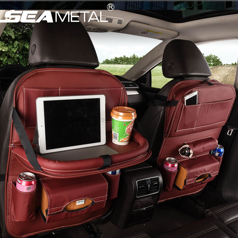 1pc car back seat storage bag holder organizer auto for 16 box auto