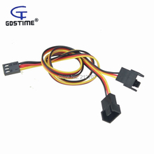 5 PCS 60CM 3 Pin Computer Case PC Fan Power Y Splitter Cable Adapter Extension Wire