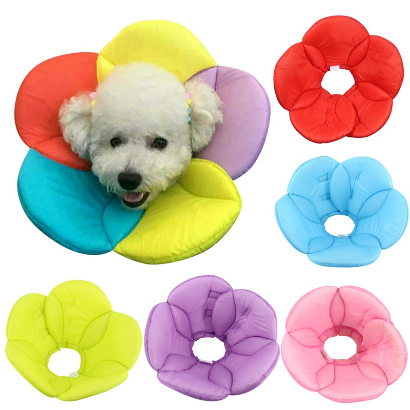 Pet Shield Elizabeth Soft Cloth Do Not Stop Licking Flowers Medical Beauty Fight Scratching Bite Dog Ring Cat Overalls Collar ...