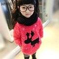Новый осень зима теплее высокое качество свитер с оленями о-образным шею свитер для девочек Childern B301
