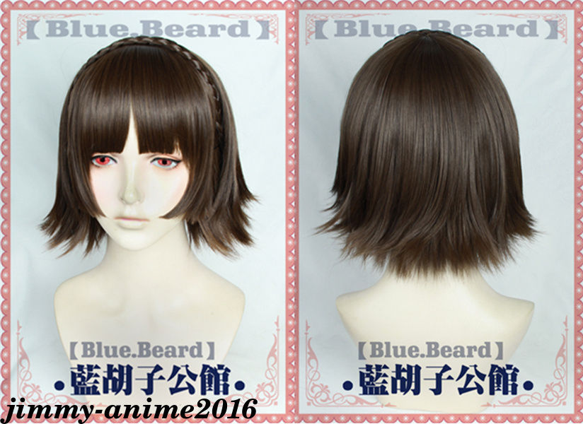 GAME Persona 5 Makoto Niijima Cosplay Wig With Hairnet Halloween Party Wigs