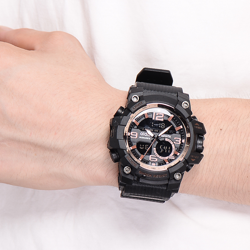 Children's Watches Gentle Swim Men Sports Watches Digital Double Time Chronograph Watch 50m Waterproof Week Display Alarm Japan Quartz Clock G Skmei 1270