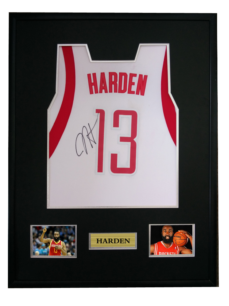 wholesale dealer da746 e8f24 US $750.0 |James Harden signed autographed basketball shirt jersey come  with Sa coa framed Rockets-in Frame from Home & Garden on Aliexpress.com |  ...