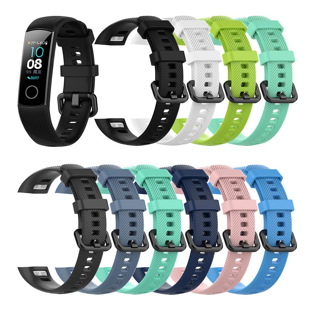 Waterproof Smart Sport Bracelet Strap Soft Silicone Bands For Huawei Honor Band 4 Smart Watch