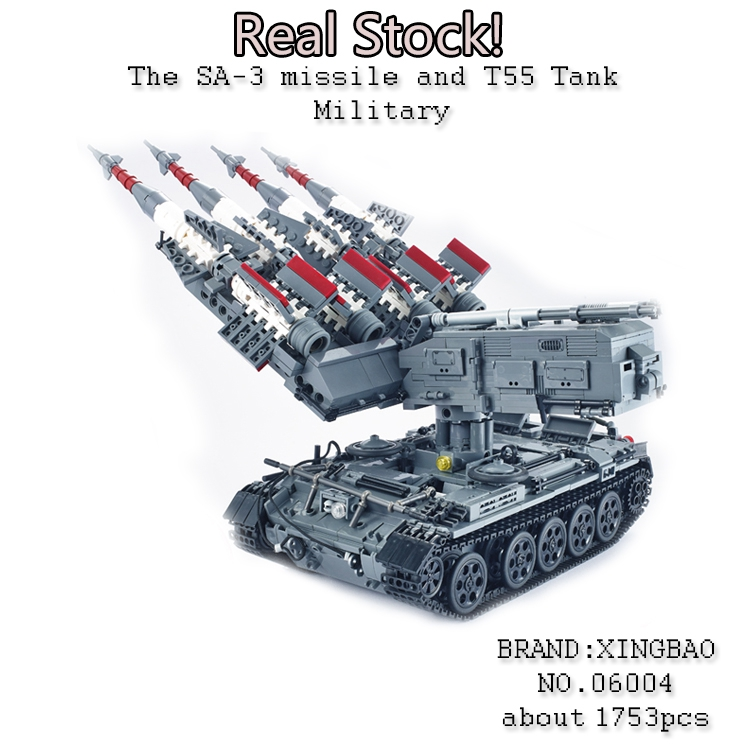 Xingbao 06004 1753Pcs Military weapon Series The SA-3 missile T55 Tank Building Blocks Bricks Educational Toys for ChildrenGifts emmett cox retail analytics the secret weapon