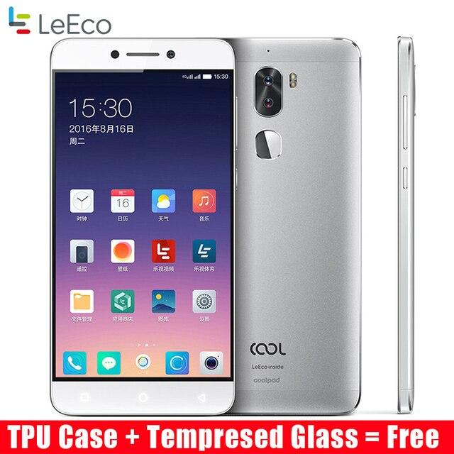 """Оригинальный LeEco Прохладный 1 Coolpad LeTV cool1 4 г LTE мобильный телефон Octa core Android 6.0 5.5 """"FHD 3 г 32 г двойной задней камерами отпечатков пальцев"""