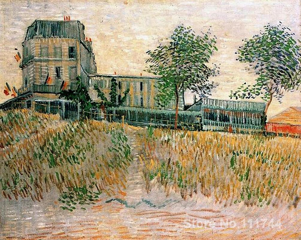 Paintings by Vincent Van Gogh The Restaurant de la Sirene at Asnieres Hand painted art on canvas High quality image
