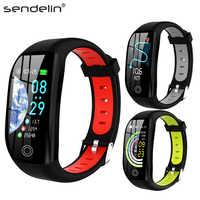 Fitness Armband Aktivität Tracker Herzfrequenz Blutdruck Monitor Sport Smart Band Uhr für Android Xiao mi telefon PK mi band 4